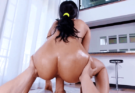 Testing the big ass of my little stepsister!